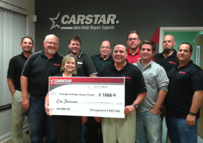 CARSTAR CHICAGO BUSINESS GROUP SHOWS CONTINUED SUPPORT FOR LOCAL FISHER HOUSE
