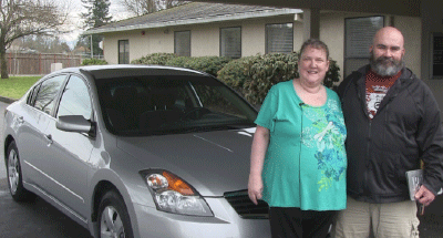 CARSTAR PUGET SOUND COLLISION CENTERS DONATE 2008 NISSAN ALTIMA TO DESERVING MILITARY FAMILY
