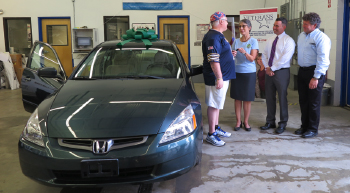 "CARSTAR THOMAS WALDRON AUTO BODY DELIVERS RECYCLED RIDE TO AREA VETERAN AS PART OF THE NATIONAL AUTO BODY COUNCIL'S ""RECYCLED RIDES"" PROGRAM"